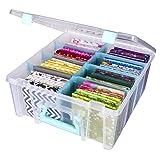 ArtBin 6990SA Art Storage Box, Clear & Aqua (Color: Clear & Aqua)