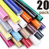ARHIKY Heat Transfer Vinyl HTV Bundle: 20 Pack Assorted Colors 12