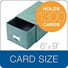 Globe-Weis Index Card Storage Drawer Case, 6 x 9 Inches, Green (69C GRE)