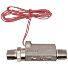 Gems Sensors FS-380 Series Stainless Steel 316 High Pressure Flow Switch, Inline, Piston Type, NPT Male