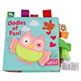 Soft Book Crinkle Cloth Book Baby Toy, Animal Puzzle Cloth Book Cloth Development Books. (Owl) (Color: Owl)