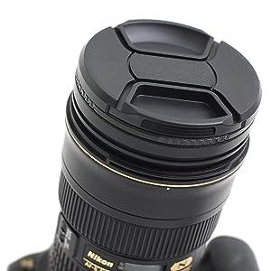 IMZ Lens Cap Bundle - 4 x 72MM Front Lens Filter Snap On Pinch Cap Protector Cover for DSLR SLR Camera Lens 72x4 (Tamaño: 72 mm)