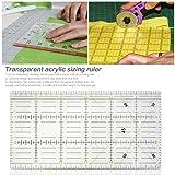 Transparent Acrylic Patchwork Ruler Fabric Cutting Ruler DIY Sewing Tool,30x15 cm