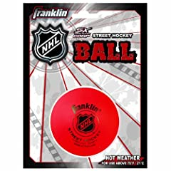 Franklin Sports NHL Street Hockey High Density Ball (Orange) by Franklin