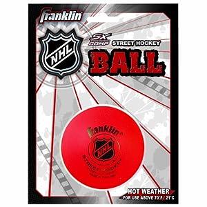 Franklin Sports NHL Street Hockey Super High Density Ball (Red) by Franklin