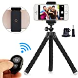 Phone Tripod Phone Stand with Bluetooth Camera Remote and Phone Holder for iPhone X 8/8s 7 7 Plus 6s Plus 6s 6 SE Samsung Galaxy S8 Plus S8 Edge S7 Ac