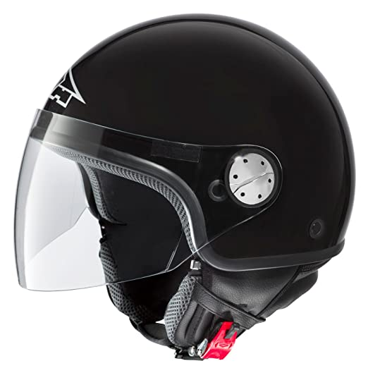 AXO MS1P0037-K01 Subway Basic Casque, Taille XS, Noir Brillant