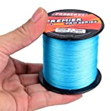 Baikalbass SuperPower Braided Fishing Line 4 Strands Strong Multifilament PE Braid Wire for Saltwater 328Yard/300M 40LB Blue (Color: Blue, Tamaño: 328Yds/40LB)