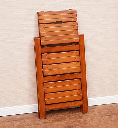 CAIJUN chaise d'échelle Escalier pliant Échelle double Tout bois massif Échelle de montée Étagères multifonctions Installation gratuite, 42.5 * 66cm