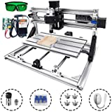 VEVOR CNC 3018 CNC Router Kit 3 Axis CNC Router Machine GRBL Control with 5500mW Laser Power and ER11 and 5mm Extension Rod for Plastic Acrylic PCB PVC Wood Carving Milling Engraving Machine