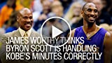 James Worthy Thinks Byron Scott is Handling Kobe's...