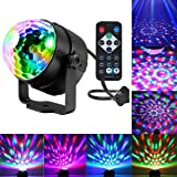 Disco Ball Lights, Party Lights Sound Activated Party Lights with Remote Control DJ Lighting, laser lights,3W Disco Ball, Strobe Lights 7 Modes Stage Par Light for Wedding show, Club, Party, Holiday (Color: Blue)