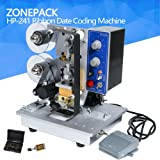 ZONEPACK Date Code Printer Continuously and Working Adjustable Electric Hot Stamp Color Ribbon Printing Stamping Embossing Machine (241 machine) (Tamaño: 241 machine)