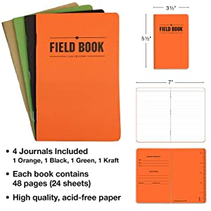 Credit Cards ID Travel Journals and Document Holder Leather Travel Wallet /& Passport Holder: Passport Cover holds 4 Passports BONUS: Includes a set of 4 Travel Journals // Notebooks.