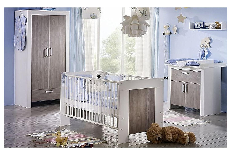Babyzimmerset Janne Klein 2 trg. weiss matt / pinie rustica