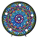 Mandala Diamond Painting Kit with LED Night Light DIY Handmade Artwork 5D Full Drill Crystal Drawing Kit Bedside Lamp Arts Craft for Home Decoration or Gifts-5.91 X 5.91