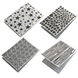 Migavan Embossing Folders 4 Assorted Patterns Embossing Folder Plastic Templates Molds Tools for DIY Craft Scrapbooking Photo Album Card Decoration Style A (Color: Style a)