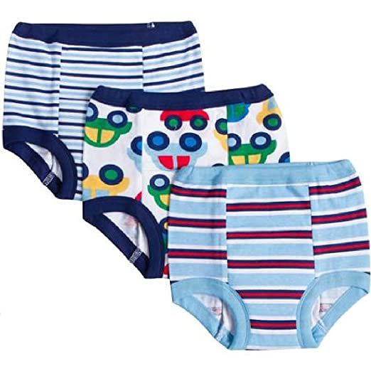 Gerber Baby Toddler Boy Cotton Training Pants, 3T, 3-Pack