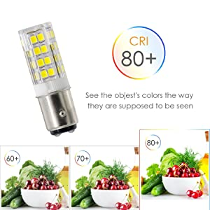 LED Ba15d Bulbs, Dimmable T4 JD Double Contact Bayonet Base Bulb,5w Replace 50w Halogen Bulb, 120v, Mini Ceramic Light Bulb (Pack of 2). (White) (Color: White)