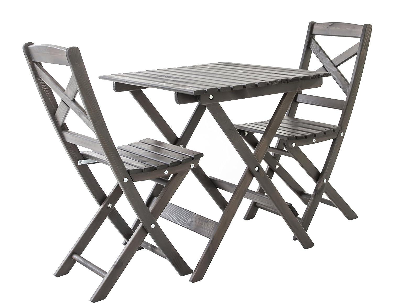 Ambientehome Balkonset Sitzgruppe klappbar Bistroset Lotta, Taupegrau, 3-teiliges Set günstig