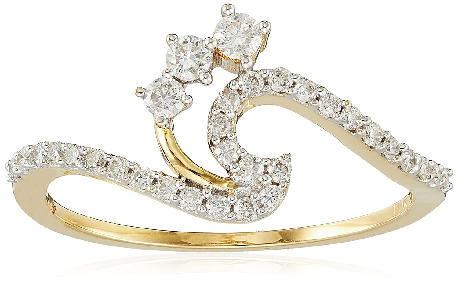 Flat 20% Off Diamond Jewelry By Amazon | Senco Gold 18KT Yellow Gold and Diamond Ring for Women @ Rs.23,376