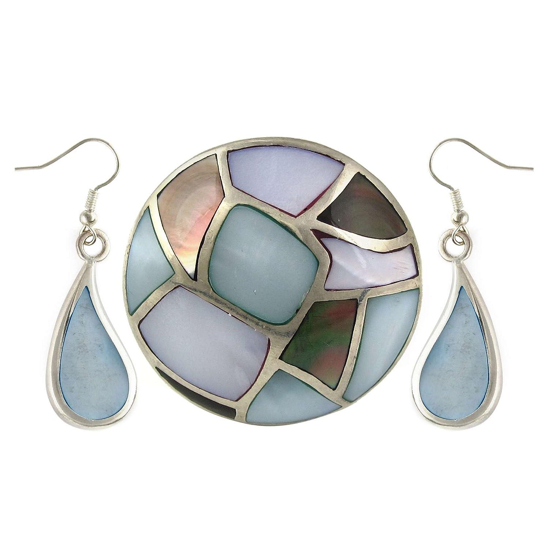 Handgemachten Schmuck Set Ohrring und Ring in Silber Mit Perle 5 Cm jetzt kaufen