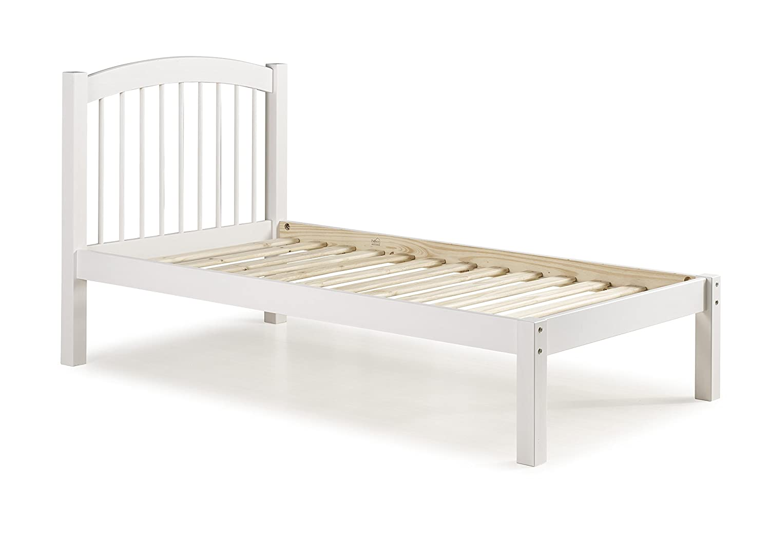 100 solid wood alaska twin platform bed 445quothx43quotwx80quotl for Futon bunk beds with mattress included