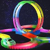 HALOFUN 132PCS Magic Race Tracks Car Toys for Kids (Color: Colorful-1)
