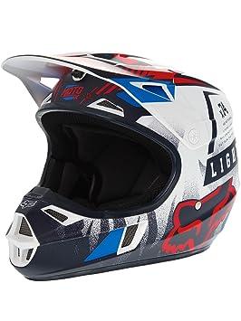Casque Motocross Enfant Fox 2016 V1 Vicious Bleu-Blanc