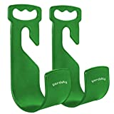 Yardsky Green Garden Hose Holder Wall Mount Durble Hanger Plastic Hook for Expandable Water Hose (Pack of 2) (Color: Green)