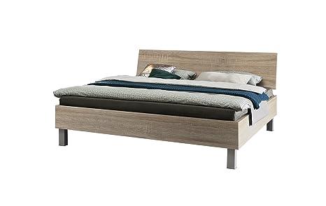 Express Möbel Bett Eiche Sonoma Nachbildung, Liegefläche 180x200 cm, Art Nr. 99012-760