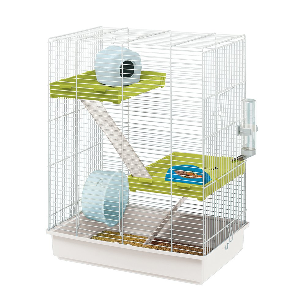 Ferplast Hamster Tris Cage With White Bars And Accessories клетка для грызунов ferplast hamster tris белая 46x29x58см