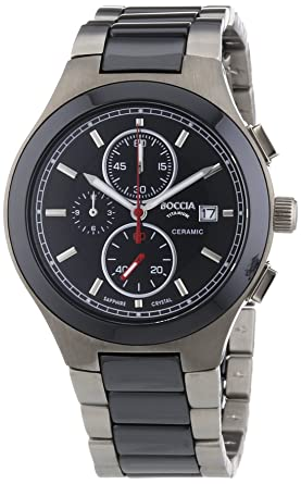 6e2230bb50eeb Boccia - 3764-01 - Montre Homme - Quartz Chronographe - Bracelet Titane  Multicolore