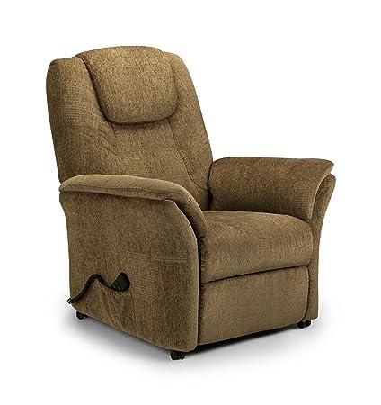 Riva Rise & Recline Chair Cappuccino Chenille Comfortable Armchair