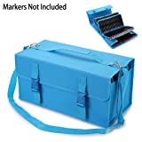 BTSKY New 171 Slots Marker Case Lipstick Organizer-Canvas Markers Holder for for Primascolor Markers and Copic Sketch Markers Blue (Color: 171 Blue)