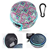 Echo Dot Case, Portable Carrying Hard Case Cover for Echo Dot (2nd Generation),Fits USB Cable and Wall Charger(Bohemia)