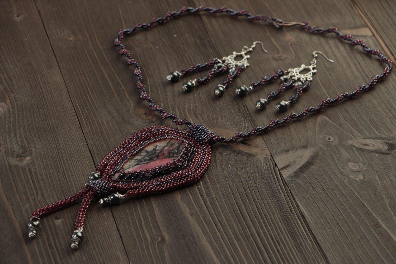 Frauen Accessoire handgeschaffen Schmuck Ohrringe modisch Halskette für Frauen günstig