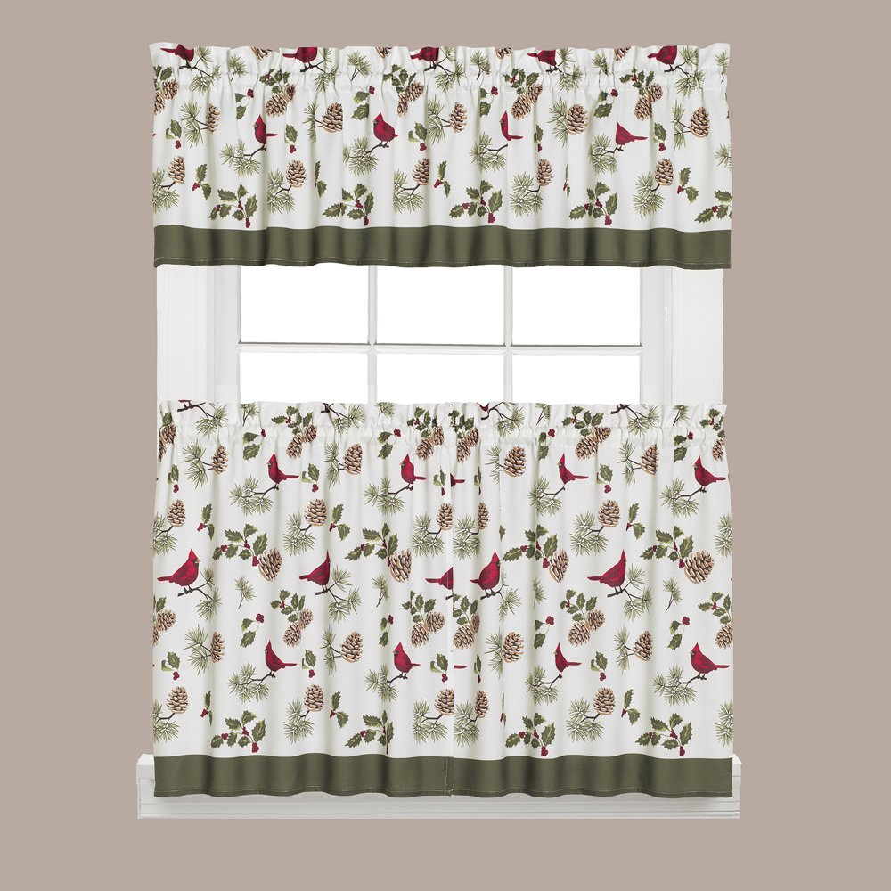 Cardinal Christmas Window Valances