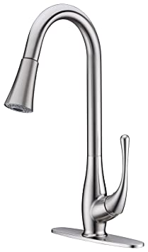 "VITO x4s pull-out spray kitchen faucet with 8"" deck plate"