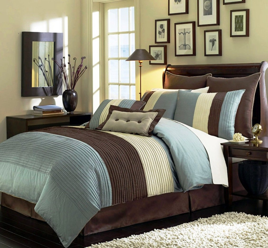 Brown and Blue Bedding Sets