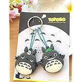 CJB Lovey Totoro Keychain Plastic Sleeve Cap Set of 2 Grey (US Seller)
