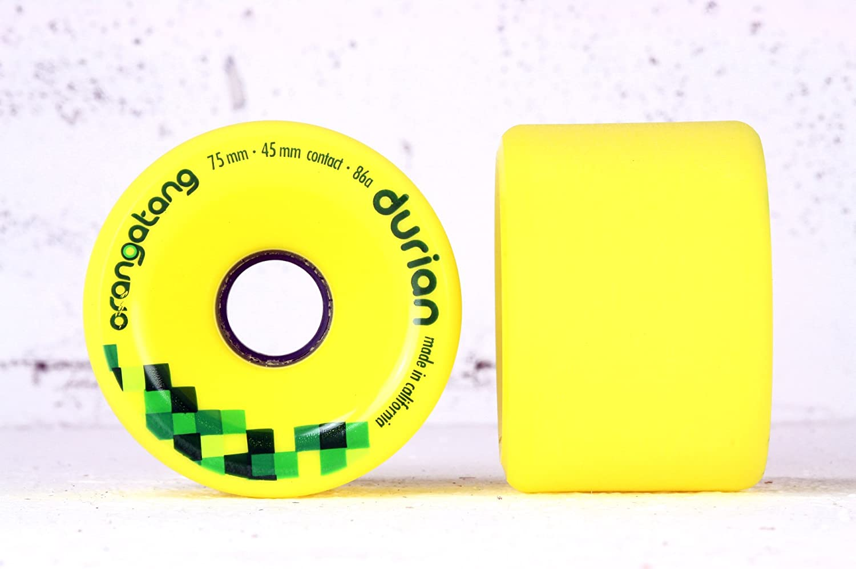 Orangatang Durian 75mm/86a gelb Longboard Rollen