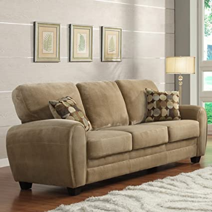 Enria Plush Sofa - Brown