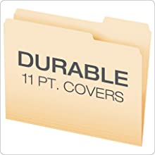 Pendaflex Essentials File Folders, Letter Size, 1/3 Cut, Manila, 100 per Box (752 1/3)