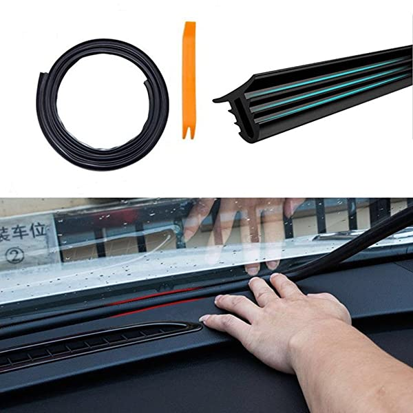 20 FT Kaixuan KX Automotive Universal New Weather Stripping EPDM Rubber Seal Strip D-Shape Self Adhesive Car Truck Door Window Weather Strip Soundproof Noise Insulation Sealing 6M