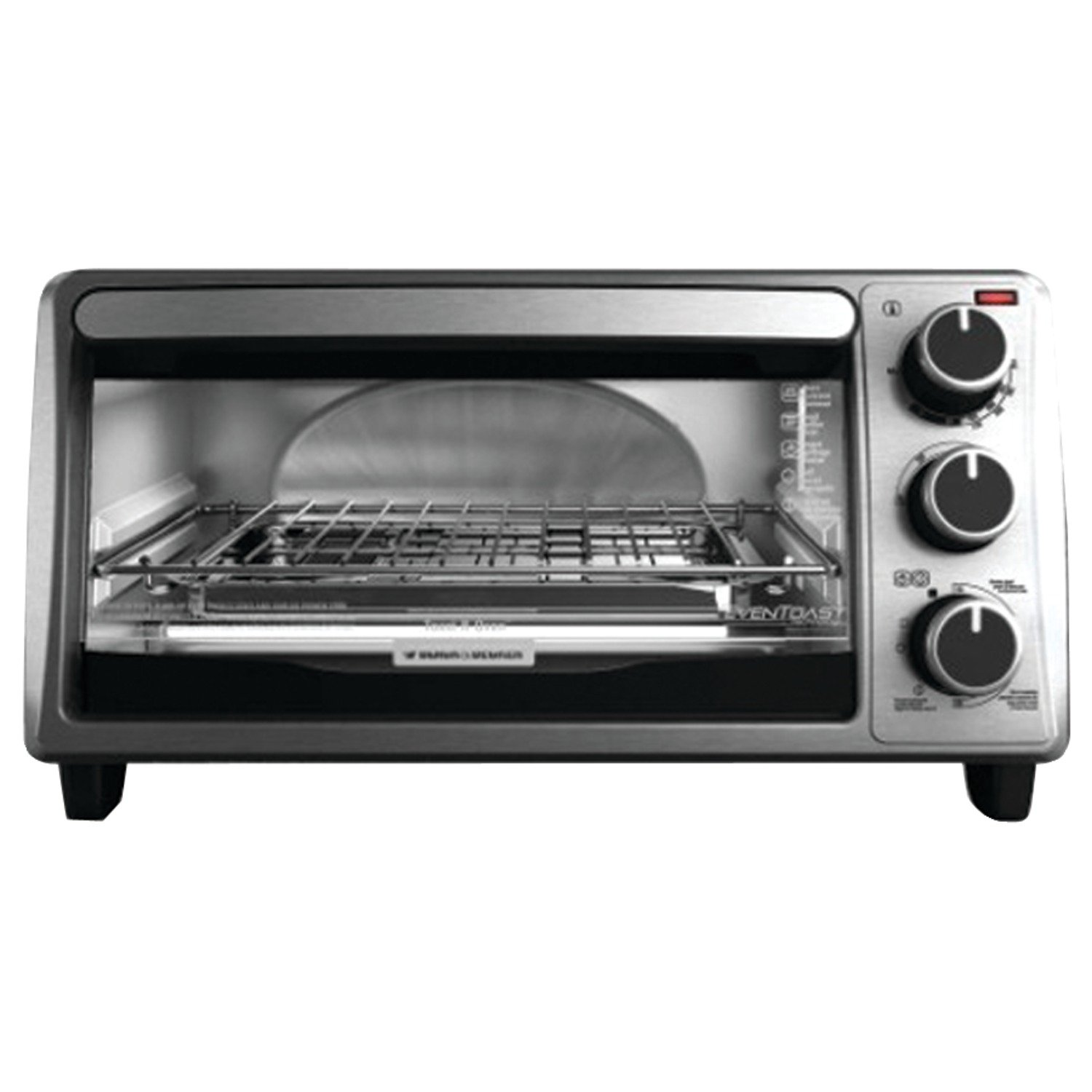 BLACK+DECKER TO1303SB 4-Slice Toaster Oven, Silver