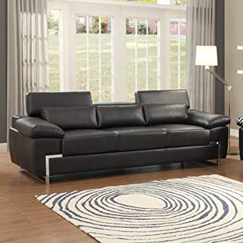 Homelegance Kira Sofa In Black Leather