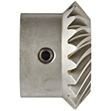 Boston Gear HLSK-L Series Spiral Miter Gear, 1:1 Ratio, 20 Degree Pressure Angle, 35 Degree Spiral Angle, Keyway, Steel with Hardened Teeth, Left Hand