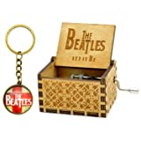 Let It Be Music Box - 18 Note Mechanism Antique Carved Wooden Music Box Crafts (Let it be) (Color: Let It Be, Tamaño: small)