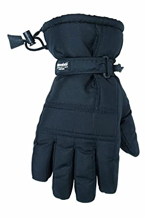 Custom Leathercraft 2077L Black Ski Glove, Large